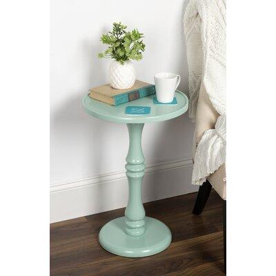 Palantoni Pedestal End Table Color: Mint Green