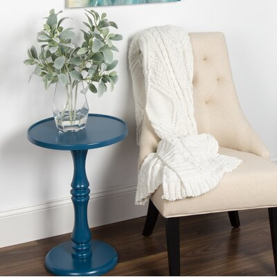 Palantoni Pedestal End Table Color: Blue