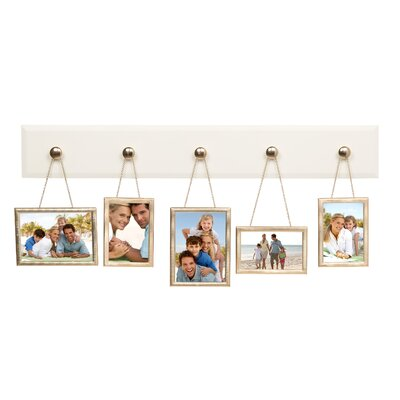 6 Piece Hanging Pendant Picture Frame Set Color: White