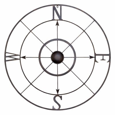 Simple Retro Compass Rose Wall Décor Size: 32 H x 32 W x 2 D