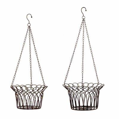 2 Piece Novelty Hanging Basket Set
