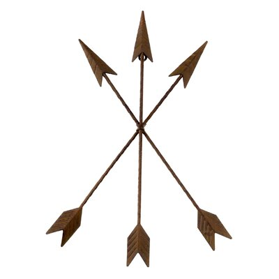 Metal Tribal Arrow Wall Décor Size: 18 H x 14 W x 1 D
