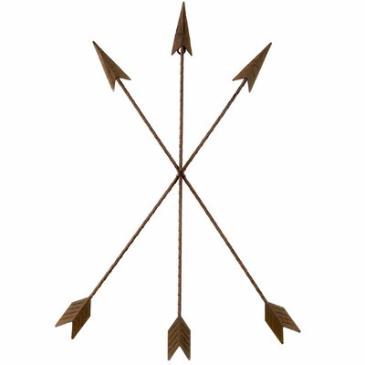 Metal Tribal Arrow Wall Décor Size: 25 H x 17 W x 1 D