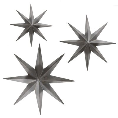 3 Piece Metal Stars Wall Décor Set