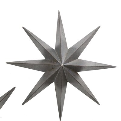 Metal Star Wall Décor Size: 30 H x 30 W x 4 D
