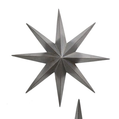 Metal Star Wall Décor Size: 24 H x 24 W x 3 D