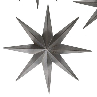 Metal Star Wall Décor Size: 36 H x 36 W x 5 D