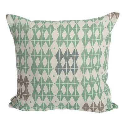 Square T-Cushion Slipcover Upholstery: Frosty Green