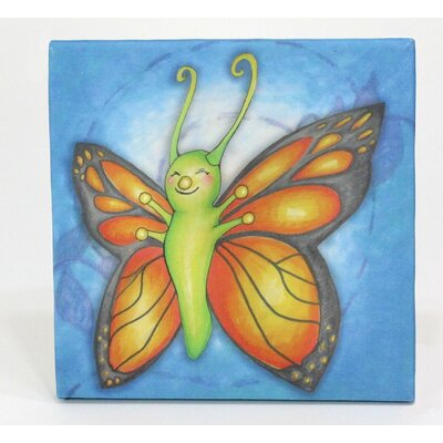 Growing Kids Caterpillar To Butterfly Painting Print On Wrapped Canvas Set