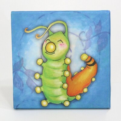 Growing Kids Caterpillar To Butterfly Graphic Art On Wrapped Canvas