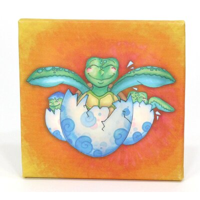 Growing Kids Sea Turtle Journey Hatching With Friends Painting Print On Wrapped Canvas Set