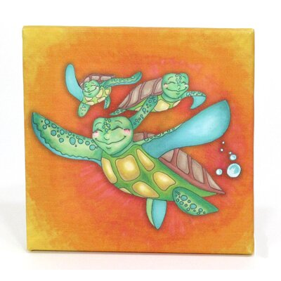 Growing Kids Sea Turtle Journey Off To Sea Painting Print On Wrapped Canvas Set