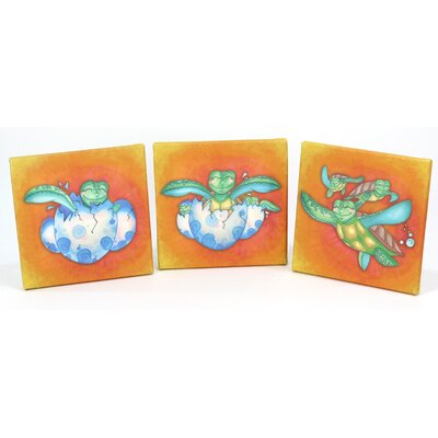 Growing Kids Sea Turtle Journey 3 Piece Graphic Art On Wrapped Canvas Set