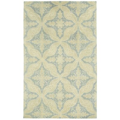 Williamsburg Blue Steel Ben Medallion Area Rug Rug Size: 5 x 8