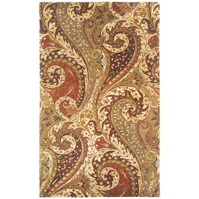 Williamsburg Zesti Boteh Teardrop Area Rug Rug Size: 5 x 8