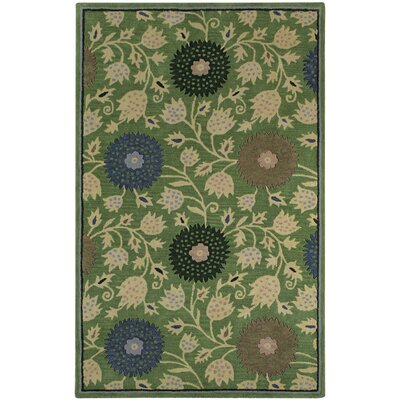 Williamsburg Green Patricia Polka Dots/Vines Area Rug Rug Size: 5 x 8