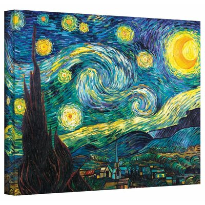 Starry Night by Vincent Van Gogh Painting Print on Wrapped Canvas