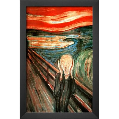 'The Scream' by Edvard Munch Framed Painting Print