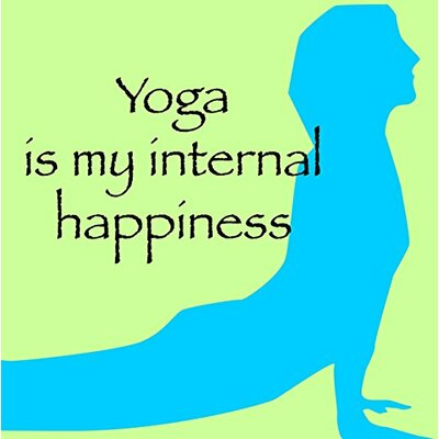 We Agree 'Yoga Quote Inspirational Peace' Graphic Art on Wrapped Canvas WACKS025 1212