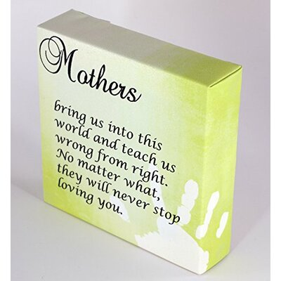 "We Agree 'Mother Quote Mothers Day Present!' Textual Art on Wrapped Canvas Size: 12"" H x 12"" W x 1.5"" D"
