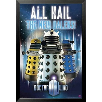 'Doctor Who - All Hail the New Daleks' Framed Graphic Art IF CN ST5377 36x24 1.25