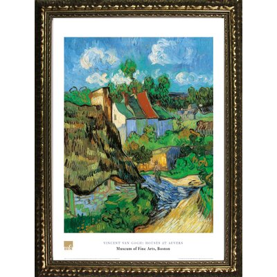 Museum Masters 'Houses of Auvers' by Vincent Van Gogh Framed Painting Print IF MFA101G