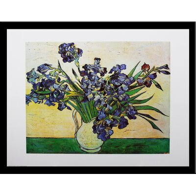Museum Masters 'Iris - Strauss 1890' by Vincent Van Gogh Framed Painting Print IF E458B
