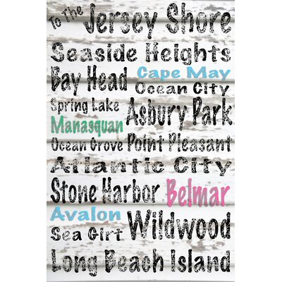"To the Jersey Shore"" Textual Art on Wrapped Canvas CCA2001 CAN1216"