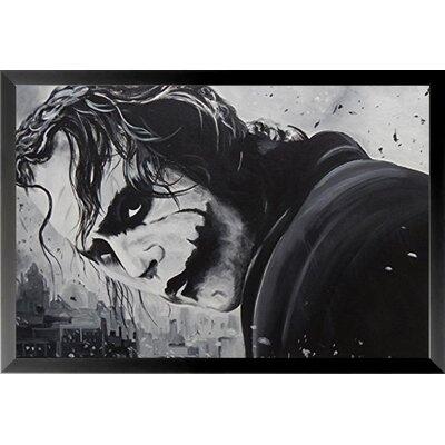 "'The Joker Poster' Framed Graphic Art Print Matte Color: No Matte, Size: 10.5"" H x 12.5"" W IF EDC016 10x8 1.25 Black"