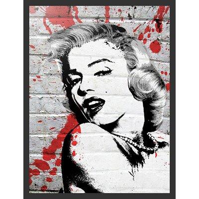 'Marilyn Monroe Pop' by Banksy Framed Graphic Art IF BAN008 36x24 1.25 Black