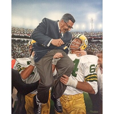 'Vince Lombardi Green Bay Packers Coach' by Darryl Vlasak Painting Print on Wrapped Canvas DV3000CS