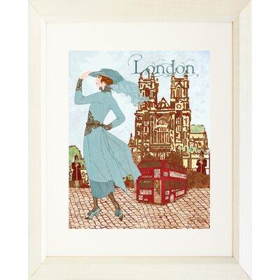 'London Diva' by Jill Meyer Framed Painting Print IF JM1281 16x20 White 1.5 SM