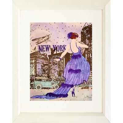 'New York Diva' by Jill Meyer Framed Painting Print IF JM1282 16x20 White 1.5 SM