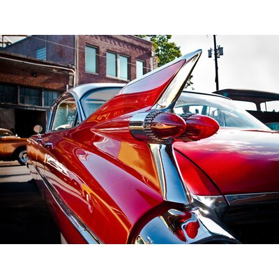 'Vintage Red Hot Rod' Photographic Print on Wrapped Canvas Size: 12