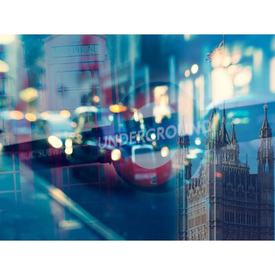 'London Collage' Graphic Art Print on Wrapped Canvas Size: 12