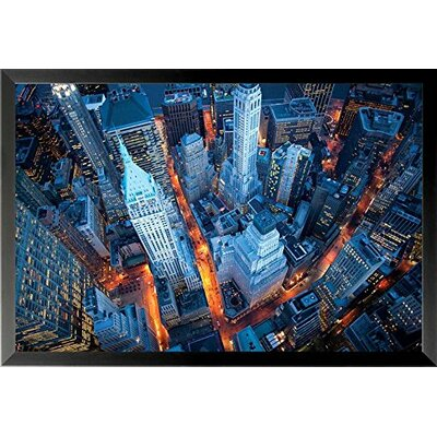 'Aerial View of Wall Street New York City' Framed Photographic Print