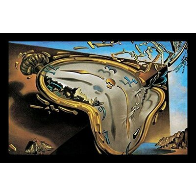 'Clock Explosion' Framed Print