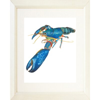 'Lobster' Framed Oil Painting Print Frame Color: White
