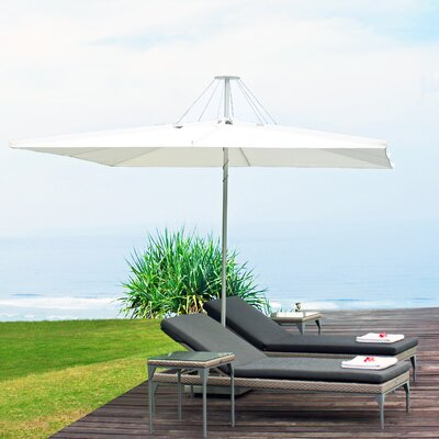 10 Infina Square Market Umbrella Fabric: Sunbrella Acrylic - Jockey Red