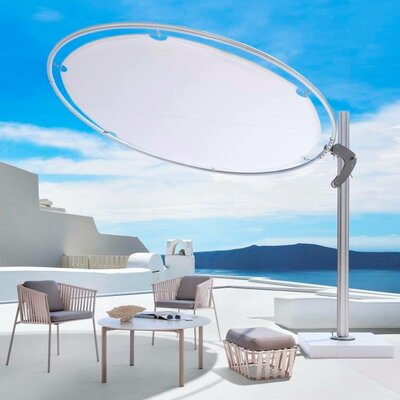 10 Eclipse Cantilever Umbrella Fabric: Sunbrella Acrylic - Charcoal