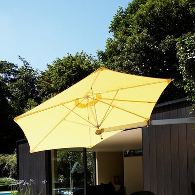 9 Paraflex Wall Mount Umbrella Fabric: Texsilk Olefin - Sunflower