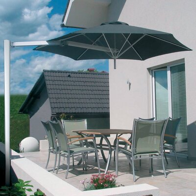 9 Paraflex Cantilever Umbrella Fabric: Texsilk Olefin - Stone Gray