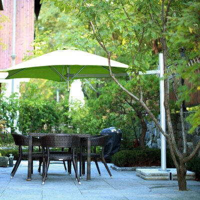 9 Paraflex Cantilever Umbrella Fabric: Sunbrella Acrylic - Jockey Red