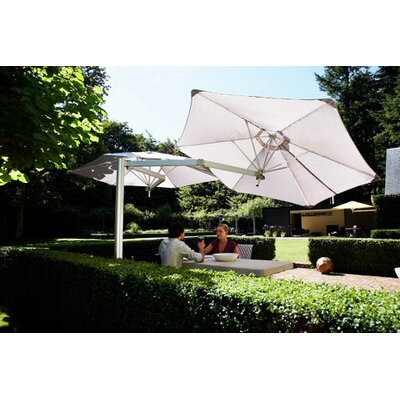 7 Paraflex Cantilever Umbrella Fabric: Texsilk Olefin - Taupe
