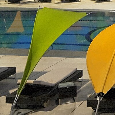 5 Rimbou Cantilever Umbrella Fabric: Texsilk Olefin - Sunflower