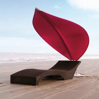 4 Rimbou Cantilever Umbrella Fabric: Texsilk Olefin - Red
