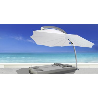 9 Icarus Cantilever Umbrella Fabric: Sunbrella Acrylic - Natural White