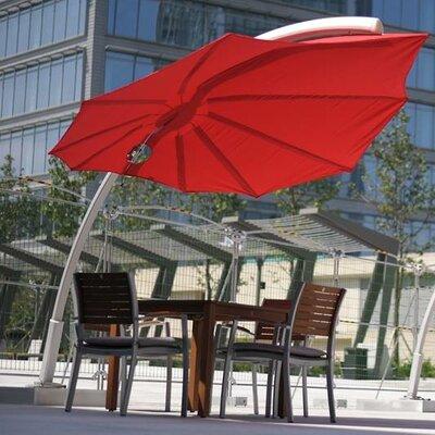 9 Icarus Cantilever Umbrella Fabric: Texsilk Olefin - Red