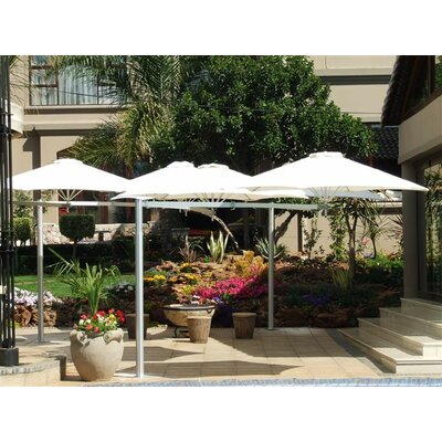 7 Paraflex Cantilever Umbrella Fabric: Texsilk Olefin - Red