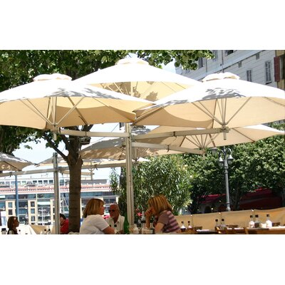 9 Paraflex Cantilever Umbrella Fabric: Sunbrella Acrylic - Natural White